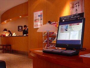 ホテル用情報端末使用例